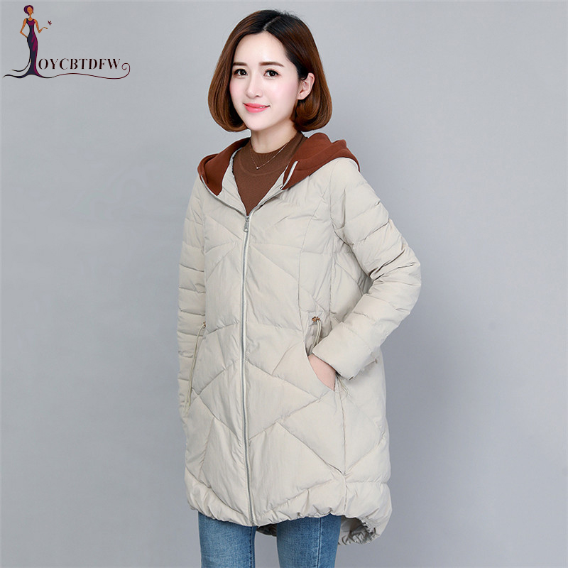 Logical Women Down Cotton Jackets Winter Parkas 2018 New Korean Mid Long Winter Thick Coats Ladies Warm Fashion Hooded Outerwear Xy671 Customers First Parkas Women's Clothing
