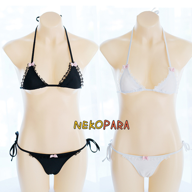 0d49183f131 Sexy Cute Women's Lingerie 2PCS Set Bra & Panties Set Bikini Swimwear  Swimsuit Bows Cute Lolita Underwear Cosplay