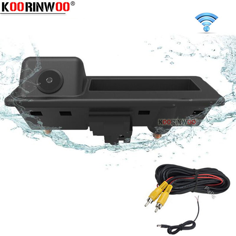 Koorinwoo Wireless Car Rear view <font><b>Camera</b></font> Trunk Handle Parking for <font><b>Audi</b></font>/VW/Skoda/Passat/Tiguan/Golf/Touran/Toureg/Sharan/A4L/S5/<font><b>Q3</b></font> image