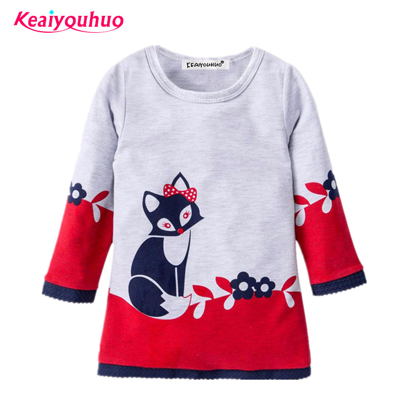 2017 new Spring girls dress full sleeve Children clothing 2-6 year baby girls casual dresses Autumn princess Dresses For Girls hello bobo girls dress collection of sports in the new year is suitable for 2 to 6 years old children s clothing