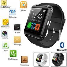 Smartwatch Bluetooth Smart Uhr U8 Armbanduhr digitale sportuhren für IOS Android Samsung phone Wearable Elektronische Gerät
