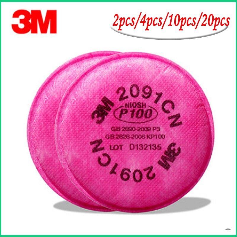 10cs = 5 packs P100 3M 2091 filtro de partículas para 6000, 7000 série respirador
