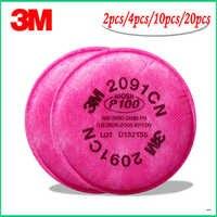 10cs = 5 paczek 3M 2091 filtr cząstek stałych P100 dla serii 6000,7000 respirator