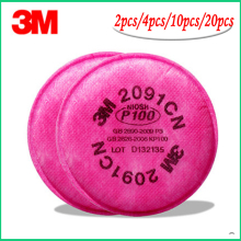 10cs = 5 пачек 3M 2091 сажевый фильтр P100 для 6000,7000 серия респираторов