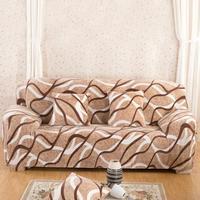 Thicken Fleece Stretch Sofa Cover Tight Wrap Elasticity All Inclusive Flexible Couch Cover Floral Print Sofa