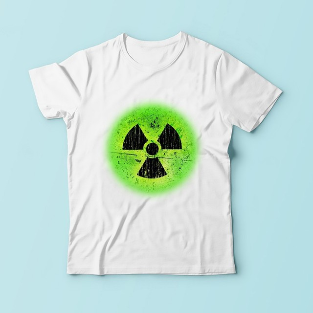 56064b5d Nuclear radiation Radioactive Warning signs GEEK t shirt men new white  casual tshirt homme funny t-shirt