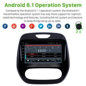 """Image 3 - Seicane Android 10.0 9"""" 2din Car Auto Radio For  Renault Captur CLIO Samsung QM3 Manual A/C 2011 2016 GPS Navigation with WIFI"""