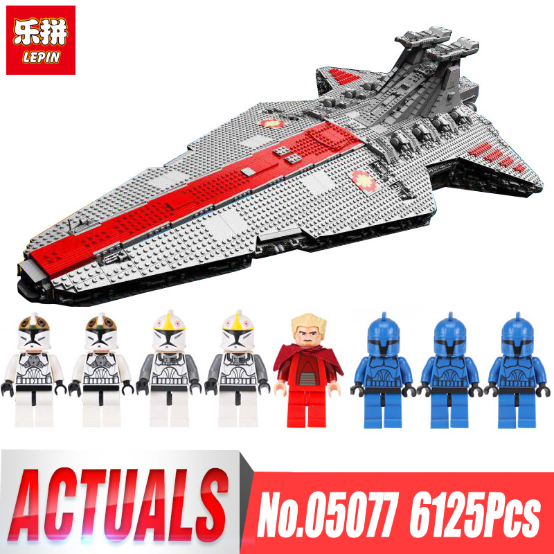 Lepin 05077 6125PCS STAR Classic The Ucs ST04 Set Republic Cruiser Educational Building Blocks Bricks Toys legoingls Gift WARS lepin 05077 star destroyer wars 6125pcs classic ucs republic cruiser funny building blocks bricks toys model gift