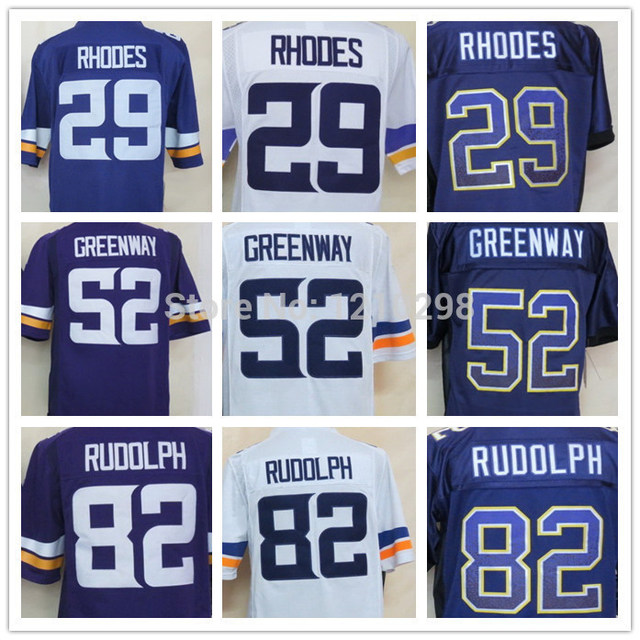 promo code 4f3d7 6aff1 US $21.68 |Newest 29 Xavier Rhodes Jersery Purple Fashion 52 Chad Greenway  Jersey White 82 Kyle Rudolph Jersey Limited Football Jersey Shop-in America  ...