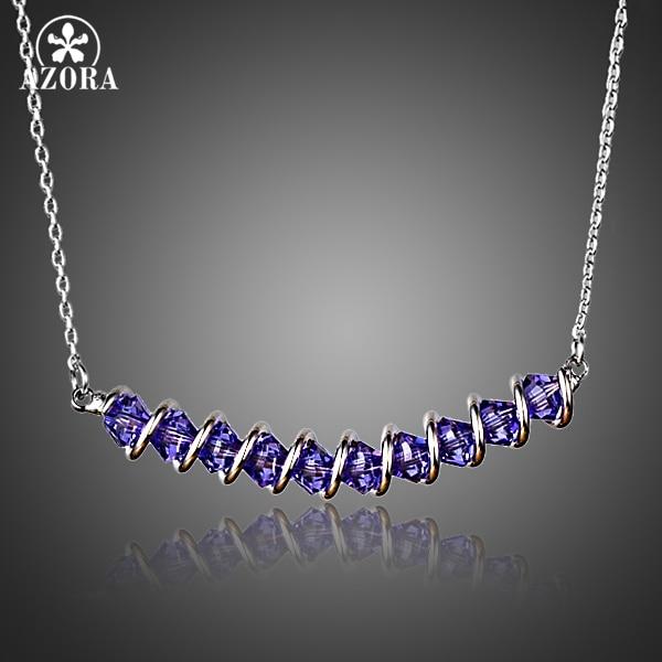 Anhänger-halsketten Stetig Azora Mode-design Mit 10 Stücke Lila Stellux Österreichischen Kristall Anhänger Halskette Tn0159 Einfach Zu Verwenden