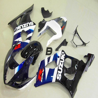 ABS Plastic Motorcycle Parts For Suzuki GSXR 1000 K3 K4 2003 2004 03 04 Injection Mold Blue Black White Fairing Kit