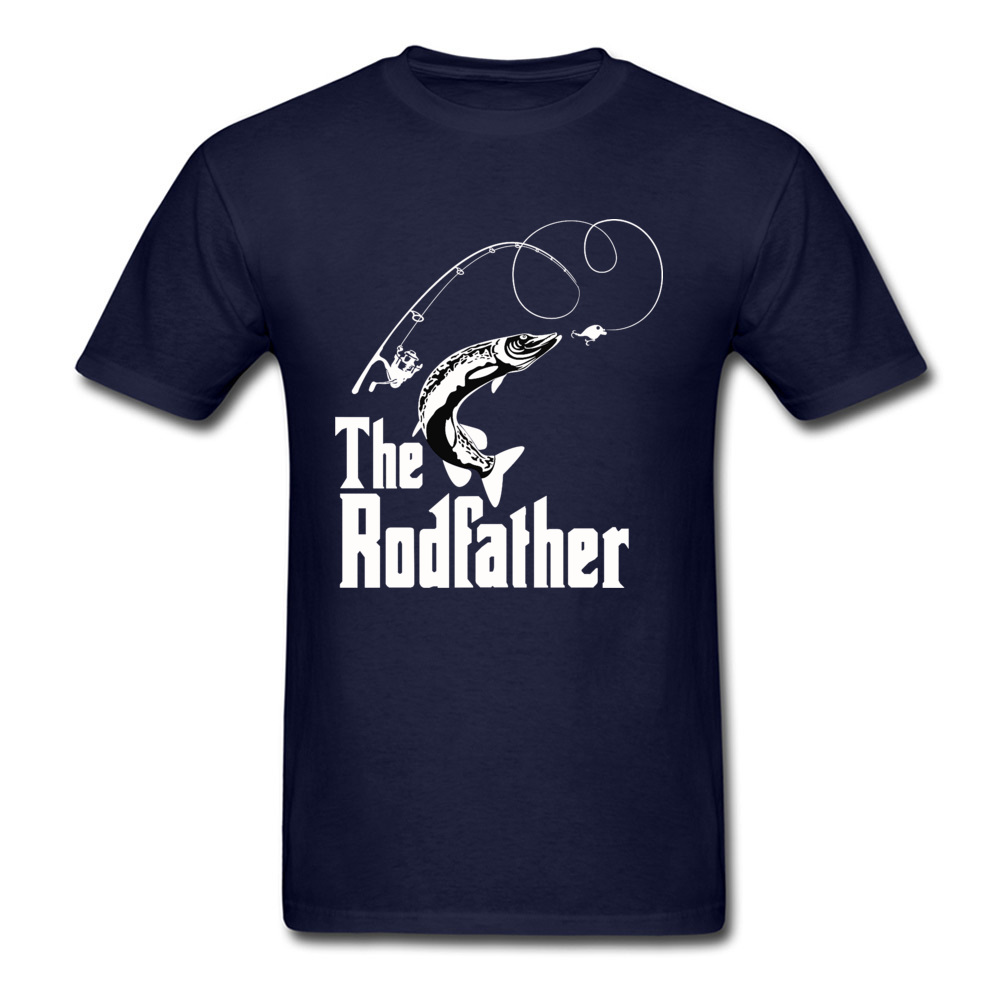 The-Rodfather Crewneck T-Shirt Lovers Day Tops Tees Short Sleeve Company 100% Cotton Design Tee-Shirts cosie Young The-Rodfather navy