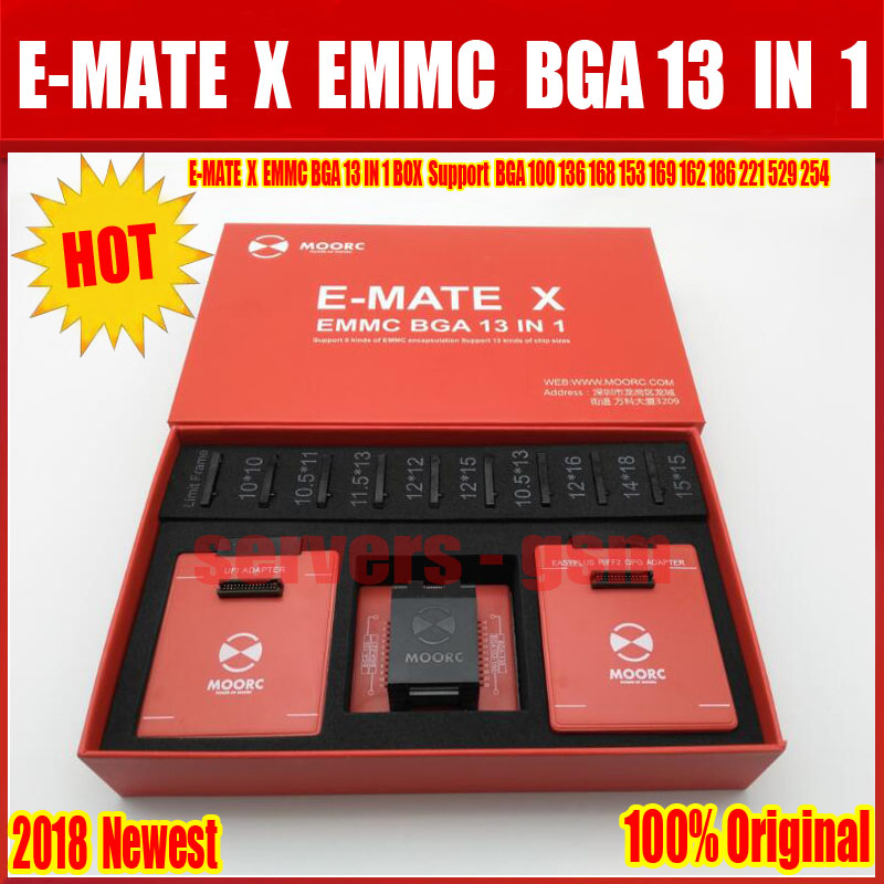 2019 新オリジナル E MATE × EMMC BGA 13 IN1 サポート BGA100 136 168 153 169 162 186 221 529 254 簡単 jtag プラス UFI ボックス Riff  グループ上の 携帯電話 & 電気通信 からの テレコム部品 の中 1