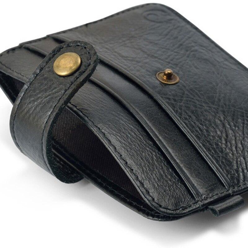 Slank läder Fler-kort-bit-packväska män Wallet Creadit - Plånböcker - Foto 6