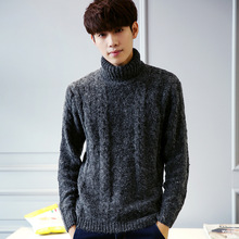 Men 's new sweater high collar warm and comfortable hedging style men' s sweater Leisure College Wind Gray man sweater MK550
