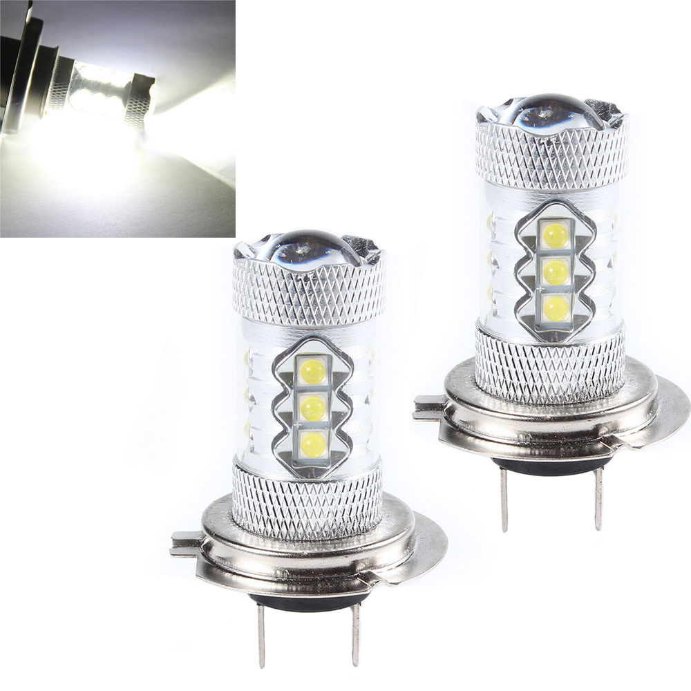 EE support 2 Pcs H7 80W Super Bright Xenon White Car Auto Fog Lights Rear Lights Headlights Lamp Bulb XY01 e support 2 pcs h7 80w cree super bright xenon white led car auto fog lights rear lights headlights lamp bulb xy01