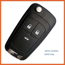 New Uncut Remote Control Key Fob 3 Buttons 433Mhz for Vauxhall Opel Insignia Astra J 2009 2010 2011 2012 2013 2014