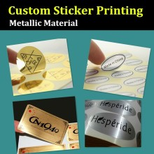 OEM Order – Custom Sticker Printing, Metallic Material Made Printing Label, Silver/Golden Sticker