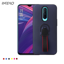 For OPPO R17 Pro Car Holder Magnetic Suction Ring Hybrid Rubber Bracket Rugged Back Cover Non-slip Protective