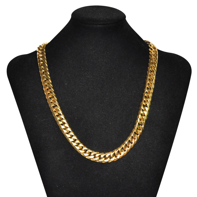 24 inches Gold Plated Belcher Chain 10mm Men/'s Gold Filled Chain