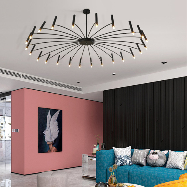 Nordic Retro Art Dandelion LED Pendant Lamp Modern Design Living room Bedroom Restaurant Hall Decro Light Fixture Luminaire