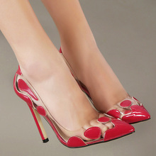 Brand party women super high heels pumps for lady fashion shoes pointed toe sexy heels 11 cm gold red silver transparent female