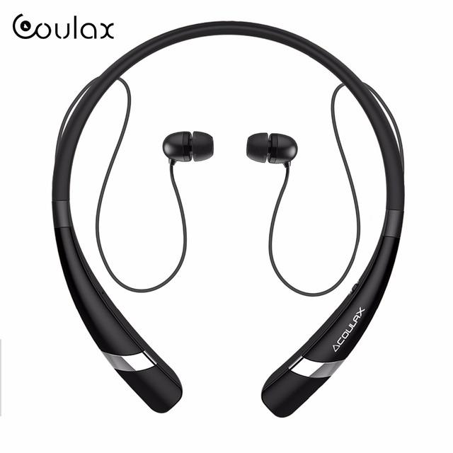 Coulax v4.1 bluetooth banda para el cuello auriculares auriculares bluetooth auriculares con micrófono auricular del deporte para el iphone android teléfono