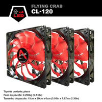 ALSEYE 3 Piece Cpu Cooler Fan 120mm Computer Led Case Cooling Fan 12v 1800RPM 3pin Radiator