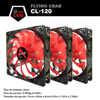 ALSEYE 3 Piece Cpu Cooler Fan 120mm Computer Led Case Cooling Fan 12v 1800RPM 3pin Radiator