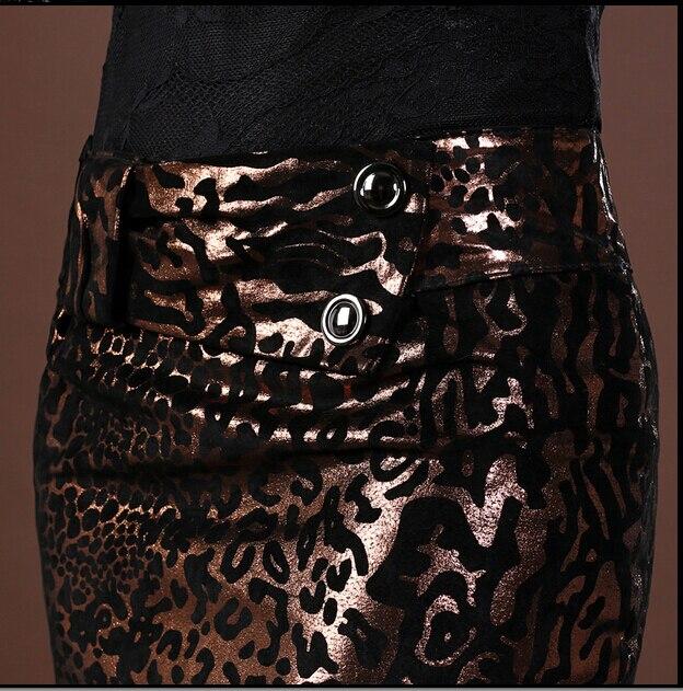 Cuir Léopard Et Mince Nouvelle 2018 Leopard D'hiver Sexy Automne Impression Courte En Mode Véritable Chaude Femelle Jupe Discothèque qEzZSn
