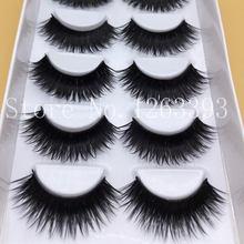 Hot Saleing False EyeLashes 1 Box 6 Pairs Thick Black False Eyelashes Makeup Tips Natural Smoky Makeup Long Fake Eye Lashes