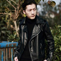 New Fashion Mens PU Leather Jacket Male Black Motocycle Biker Coats Riding Coats Casual Jackets For Man Plus Size 2XL