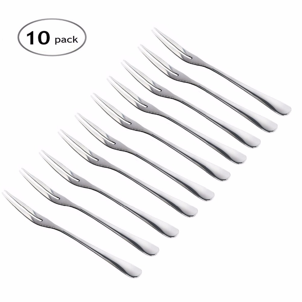 Free shipping pcs fruit forks hand forged stainless
