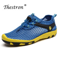 все цены на Thestron Man Woman Water Shoes Comfortable Breathable Outdoor Water Shoes  Spring Summer Aqua Sport Sneakers Couple Aqua Shoes онлайн