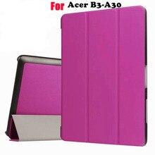 Ultra delgado del tirón de la cubierta para acer iconia one 10 b3-a30 a3-a40 funda casos soporte de la cubierta protectora shell de la piel + regalo + protector de pantalla