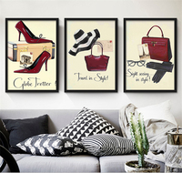 Modern Fashion Dresses Luxury Themed Murals Canvas Art Painting Nordic Style Wall Art Poster For Career