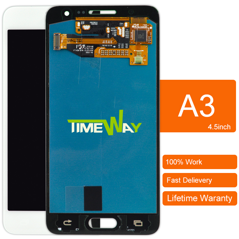 10 unids ensamblaje de la pantalla lcd de pantalla del teléfono para samsung a3