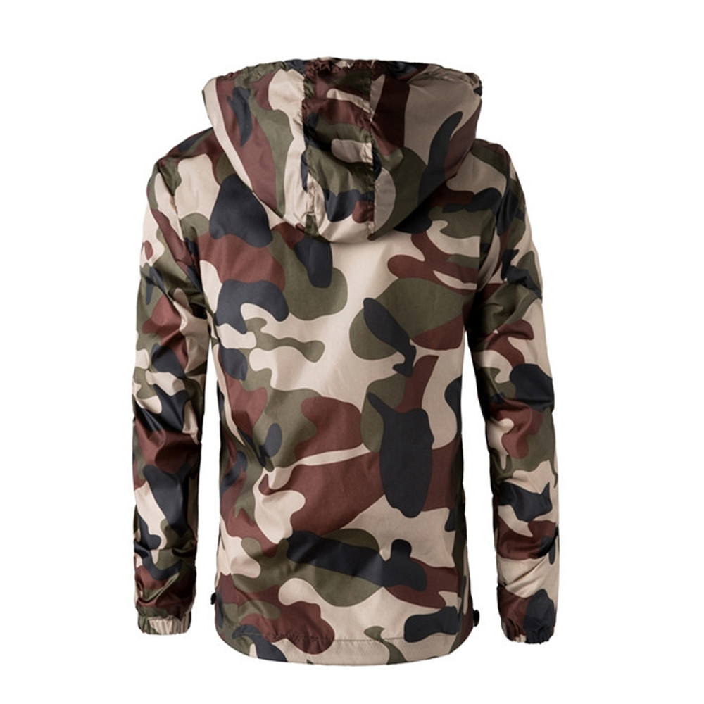 75c9867539f2d Military Outdoors Jacket Mens Autumn Winter Army Tactical Jacket Fashion  Camo Hooded Windbreaker Camouflage Coat Plus Size 4XL-in Jackets from Men's  ...
