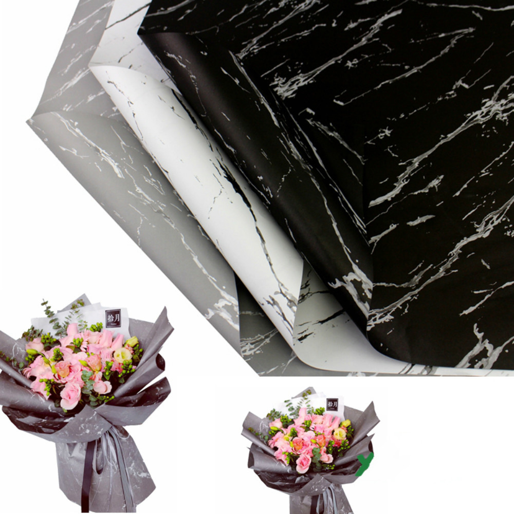 Marble Flower Wrapping Paper Floral Bouquet Decorative Flower