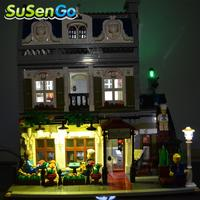 LED Street Light Set Compatible With Lego Creator Decorate Series Accessories Kit Blocks Model Toys Set