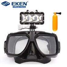 Luz de buceo portátil Multi funcional 30m impermeable/buceo máscara de cristal, floting bobber monopod para gopro eken Cámara de Acción
