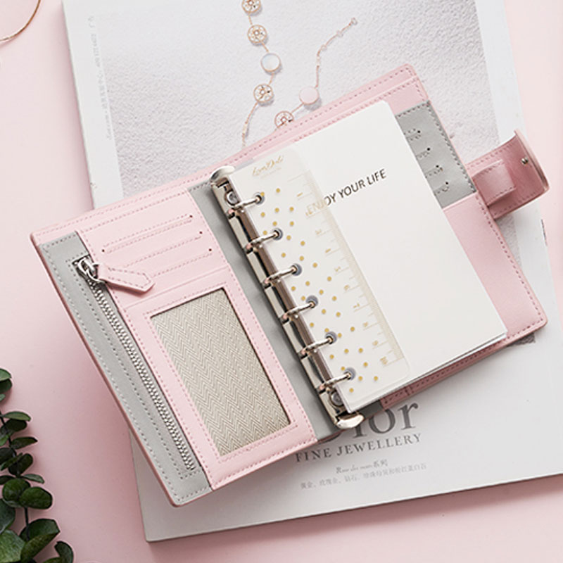 Lovedoki 2019 A6 A7 Personal Pocket Genuine Cow Leather Planner Classic Spiral Notebook Business Handbook Binder Storage Diary