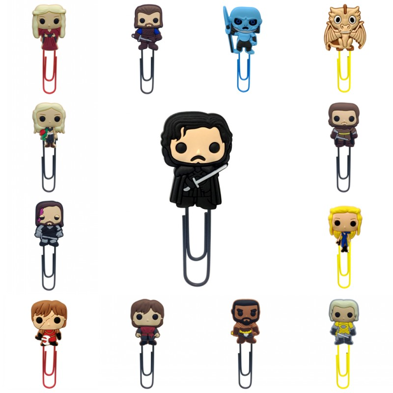 1pcs Game Of Thrones Bookmarks For Kids Cartoon Mini Figures Book Mark Paper Clips For School Teacher Office Supply Party Gift