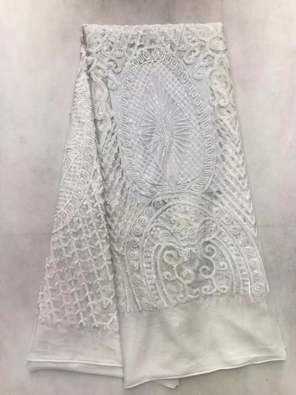 African lace fabric nigeria lace  High Quality Tulle French Lace Fabric With sequins for party dressAfrican lace fabric nigeria lace  High Quality Tulle French Lace Fabric With sequins for party dress