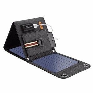 Image 2 - لوحات شمسية محمولة من Suaoki بقدرة 14 وات مزودة بشاحن 5 فولت و2. 1 أمبير تعمل بمنفذ USB للهواتف الذكية وأجهزة الكمبيوتر المحمول الخارجية