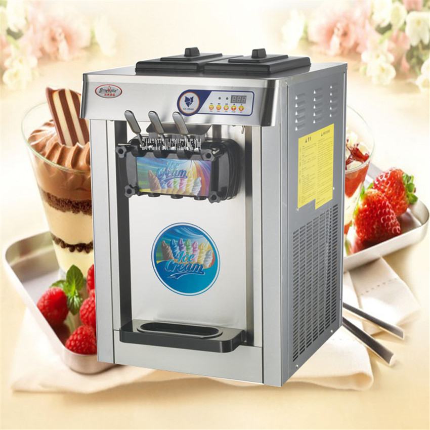 MQ-L18AB/ MQ-L18A 18L Frozen Yogurt Commercial Stainless Steel  220v 50Hz Electric 3 Soft Ice Cream Machine 1950W 18L / H