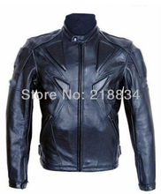 Free shipping  New Cool PU professional motorcycle racing Jacket motocross jacket with protection black color top quality