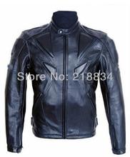 Бесплатная доставка New Cool PU профессиональный мотогонок Куртки мотокросс куртка с защитой черный цвет высшего качества
