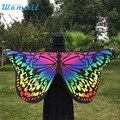 Durable 2017 new arrival  bandana Soft Fabric Butterfly Wings Shawl Fairy Ladies scarf women