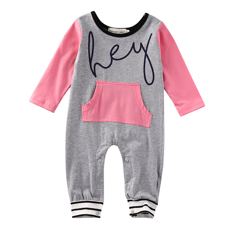 Casual Newborn Infant Baby Boy Girl Clothes Long Sleeve Cotton Pocket Romper Playsuit One Pieces Outfit Clothing 0-18M newborn infant baby girls boys long sleeve clothing 3d ear romper cotton jumpsuit playsuit bunny outfits one piecer clothes kid